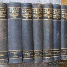 Enciclopedias de segunda mano: 10 TOMOS ... LUEGER LEXIKON .. DER GESANTEN TECHNIL . Lote 37037154