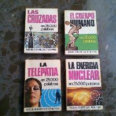 Enciclopedias de segunda mano: 4 LIBRITOS MINI, GASTOS ENVIO 5 EUROS. Lote 37207445