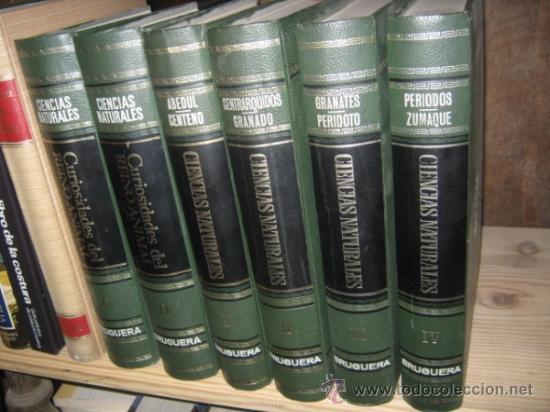 ENCICLOPEDIA. CIENCIAS NATURALES. EDITORIAL BRUGUERA. 1967. (Libros de Segunda Mano - Enciclopedias)