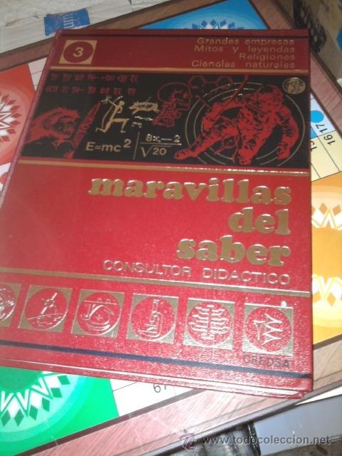 ENCICLOPEDIA ' MARAVILLAS DEL SABER' 12 TOMOS - AÑOS '60-'70 (Libros de Segunda Mano - Enciclopedias)