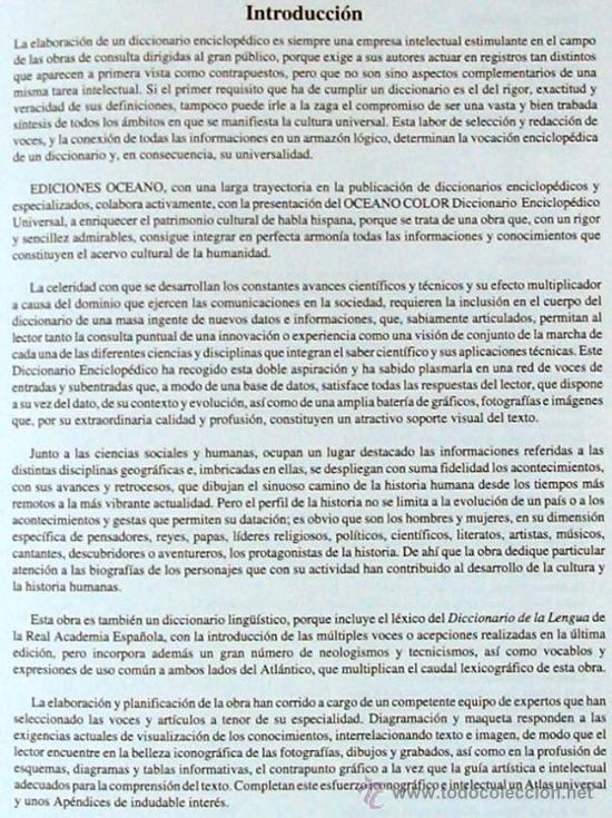 Enciclopedias de segunda mano: DICCIONARIO ENCICLOPÉDICO UNIVERSAL - 6 TOMOS COMPLETO - OCEANO COLOR 1998 - VER DESCRIPCIÓN - Foto 3 - 39149475