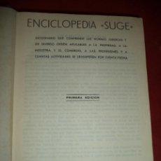 Enciclopedias de segunda mano: ENCICLOPEDIA SUGE. EDITORIAL GRÁMER. 1ª EDICION. MADRID. 1201 PÁGS. . Lote 39538647