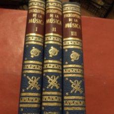 Enciclopedias de segunda mano: ENCICLOPEDIA DE LA MÚSICA.3 TOMOS. FRED HAMEL Y MARTIN HÜRLIMANN. EDITORIAL CUMBRE. MÉXICO. 1954-55. Lote 41880516