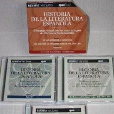 Enciclopedias de segunda mano: HISTORIA DE LA LITERATURA ESPAÑOLA( BIBLIOTECA VIRTUAL): 3 CD'S PARA PC. Lote 27546805
