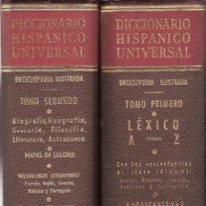 Enciclopedias de segunda mano: DICCIONARIO HISPANICO UNIVERSAL -EDITORIAL EXITO- LOS DOS TOMOS-. Lote 44427378