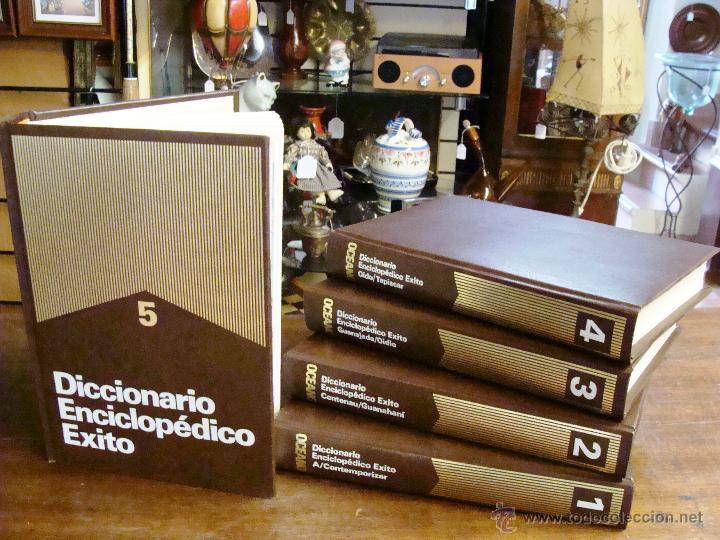 DICCIONARIO ENCICLOPÉDICO ÉXITO OCÉANO DE 5 TOMOS EDICIÓN 1990 (Libros de Segunda Mano - Enciclopedias)
