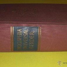 Enciclopedias de segunda mano: ENCICLOPEDIA UNIVERSAL HERDER AÑO 1955 VER IMAGENES DETALLADAS. Lote 46931857