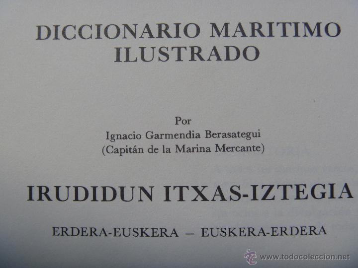Enciclopedias de segunda mano: Diccionario marítimo ilustrado de Ignacio Garmendia - Foto 3 - 48807403