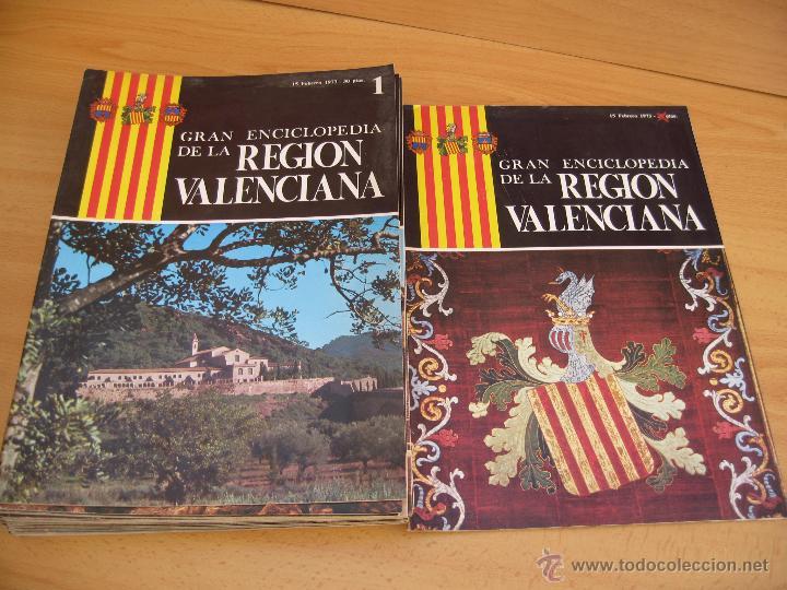 GRAN ENCICLOPEDIA DE LA REGION VALENCIANA 25 FASCICULOS Y PROLOGO (Libros de Segunda Mano - Enciclopedias)