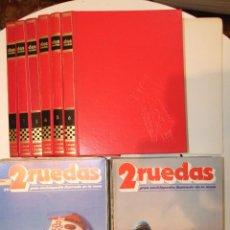 Enciclopedias de segunda mano: GRAN LOTE 2 RUEDAS GRAN ENCICLOPEDIA ILUSTRADA DE LA MOTO - INCOMPLETA - EDITORIAL DELTA - 1980. Lote 49410218
