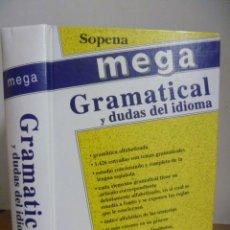 Enciclopedias de segunda mano: MEGA GRAMATICAL Y DUDAS DEL IDIOMA - SOPENA. Lote 49590736