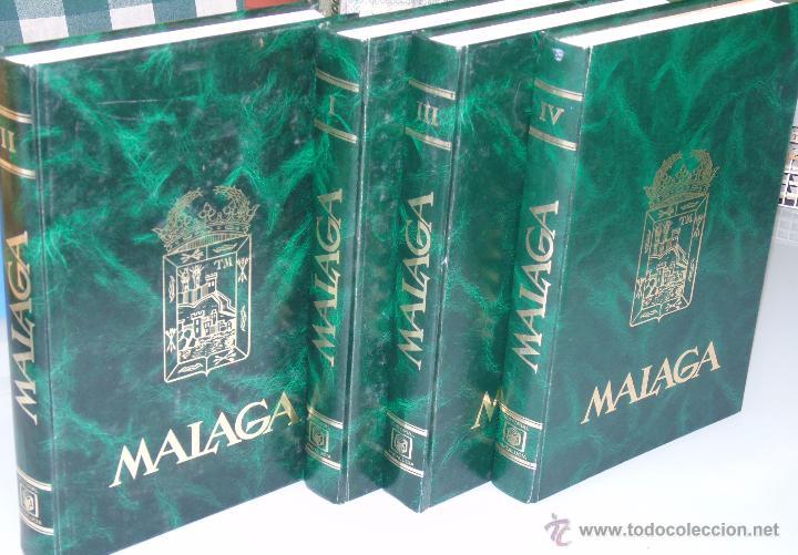 ENCICLOPEDIA DE MÁLAGA EN 4 TOMOS VOLÚMENES. EDITORIAL ANDALUCIA. EDICIONES ANEL. AÑO 1984 (Libros de Segunda Mano - Enciclopedias)