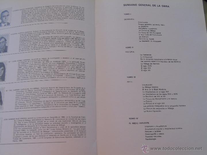 Enciclopedias de segunda mano: ENCICLOPEDIA DE MÁLAGA EN 4 TOMOS VOLÚMENES. EDITORIAL ANDALUCIA. EDICIONES ANEL. AÑO 1984 - Foto 8 - 49640987