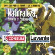 Enciclopedias de segunda mano: ** CD75 - ENCICLOPEDIA TEMÁTICA CAMPUS. CD-ROM Nº 1 - NATURALEZA, BOTANICA Y ZOOLOGIA. Lote 49745097