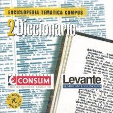 Enciclopedias de segunda mano: ** CD77 - ENCICLOPEDIA TEMÁTICA CAMPUS. CD-ROM Nº 2 - DICCIONARIO. Lote 49745160