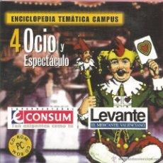 Enciclopedias de segunda mano: ** CD79 - ENCICLOPEDIA TEMÁTICA CAMPUS. CD-ROM Nº 4 - OCIO Y ESPECTÁCULO. Lote 49745193