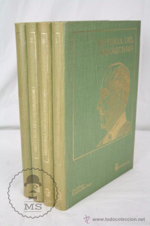 4 TOMOS / LIBROS - ENCICLOPEDIA HISTORIA DEL FRANQUISMO - ED. SEDMAY, AÑO 1977 (Libros de Segunda Mano - Enciclopedias)