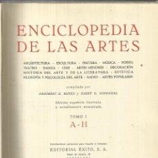 Enciclopedias de segunda mano: ENCICLOPEDIA DE LAS ARTES. LIBRERÍA EDITORIAL ARGOS. BARCELONA. TOMO I. Lote 50493270