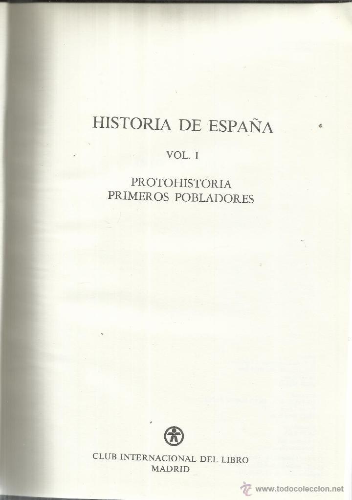 Enciclopedias de segunda mano: HISTORIA DE ESPAÑA. 25 TOMOS. CLUB INTERNACIONAL DEL LIBRO. MADRID. 1986 - Foto 3 - 50524035