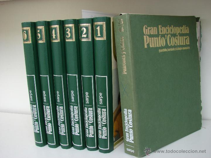 GRAN ENCICLOPEDIA PUNTO Y COSTURA. 6 TOMOS MAS OTRO DE PATRONES. AÑOS 70 (Libros de Segunda Mano - Enciclopedias)
