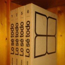 Enciclopedias de segunda mano: ENCICLOPEDIA LO SE TODO, EDITORIAL LAROUSSE, TOMOS 1, 2, 5, 6, AÑO 1959. Lote 52015142