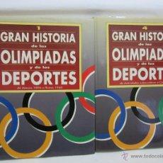 Enciclopedias de segunda mano: HISTORIA DE LAS OLIMPIADAS Y DE LOS DEPORTES - PLANETA - 7 TOMOS + 2 CD. Lote 52764879
