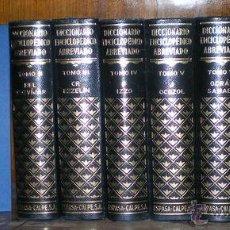 Enciclopedias de segunda mano: DICCIONARIO ENCICLOPEDICO ABREVIADO. 8 VOLS. 1957. Lote 52871885