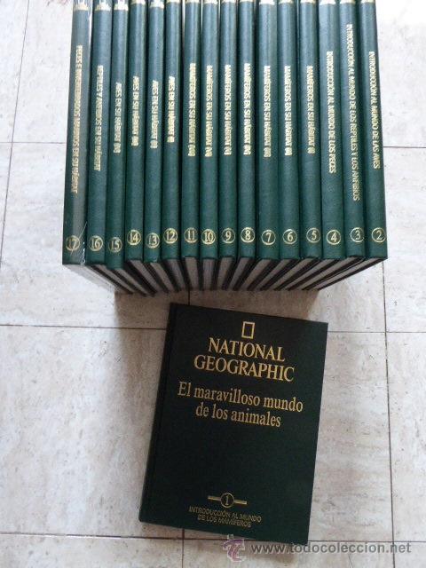 EL MARAVILLOSO MUNDO DE LOS ANIMALES. NATIONAL GEOGRAPHIC, 2000. 17 TOMOS. (Libros de Segunda Mano - Enciclopedias)