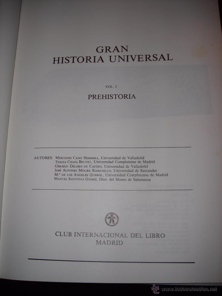 Enciclopedias de segunda mano: GRAN HISTORIA UNIVERSAL (11 Tomos). De CLUB INTERNACIONAL DEL LIBRO (MADRID). - Foto 6 - 54096869