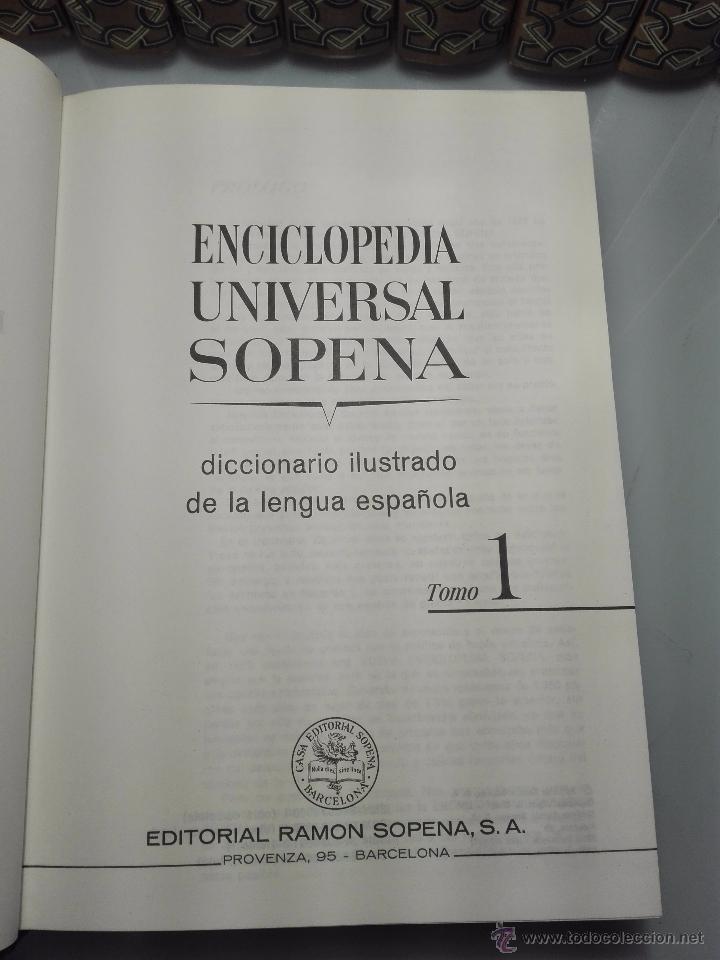 Enciclopedias de segunda mano: TREMENDA ENCICLOPEDIA UNIVERSAL SOPENA COMPUESTA DE 25 VOLÚMENES - BARCELONA - 1981 - - Foto 6 - 54400179