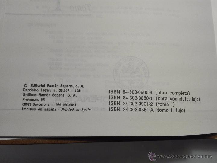 Enciclopedias de segunda mano: TREMENDA ENCICLOPEDIA UNIVERSAL SOPENA COMPUESTA DE 25 VOLÚMENES - BARCELONA - 1981 - - Foto 8 - 54400179