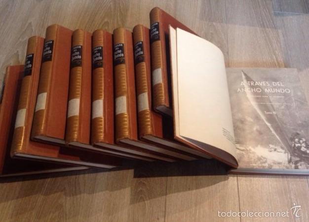 ENCICLOPEDIA A TRAVÉS DEL ANCHO MUNDO (Libros de Segunda Mano - Enciclopedias)