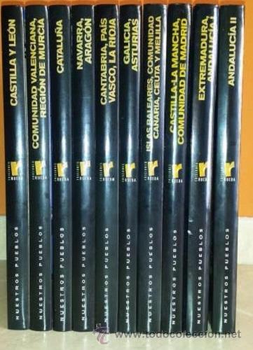 118b85b4fe52b NUESTROS PUEBLOS 10 TOMOS EDICIONES RUEDA (Libros de Segunda Mano -  Enciclopedias)