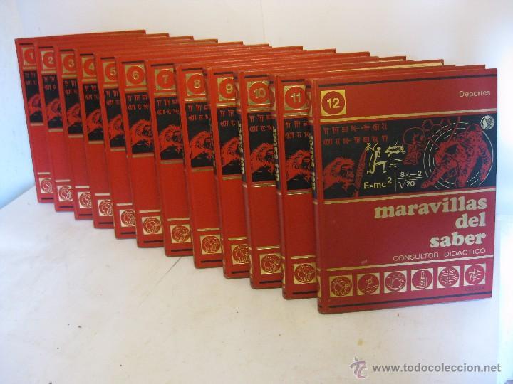 12 TOMOS ENCICLOPEDIA COMPLETA DIDACTICA MARAVILLAS DEL SABER (Libros de Segunda Mano - Enciclopedias)
