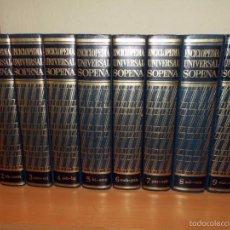 Enciclopedias de segunda mano: 9 TOMOS DE LA ENCICLOPEDIA ESPASA, MAS UN SUPLEMENTO DE ACTUALIZACIONES, 1970. Lote 55997508