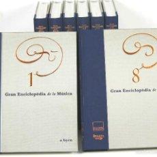Enciclopedias de segunda mano: 7391 - GRAN ENCICLOPÈDIA DE LA MÚSICA. 8 TOMOS(VER DESCRIP). EDI. EN. CATALANA. 1999-2003.. Lote 56231371