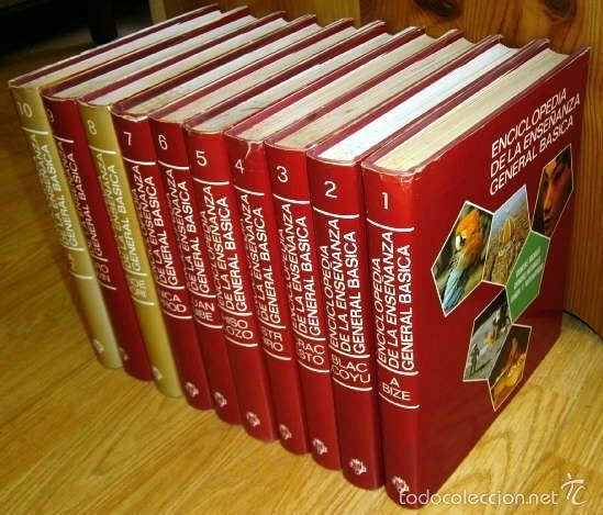 ENCICLOPEDIA DE LA ENSEÑANZA GENERAL BÁSICA 10T DE ED. PLAZA JANÉS EN BARCELONA 1977 (COMPLETA) (Libros de Segunda Mano - Enciclopedias)