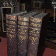 Enciclopedias de segunda mano: UNIVERSITAS ENCICLOPEDIA DE INICIACION CULTURAL - TOMOS I, II Y VIII - ENM. Lote 131320065