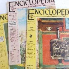 Enciclopedias de segunda mano: LOTE 3 FASCICULOS ENCICLOPEDIA DEL ESTUDIANTE Nº 30,31,61 1962-1964. Lote 57265990