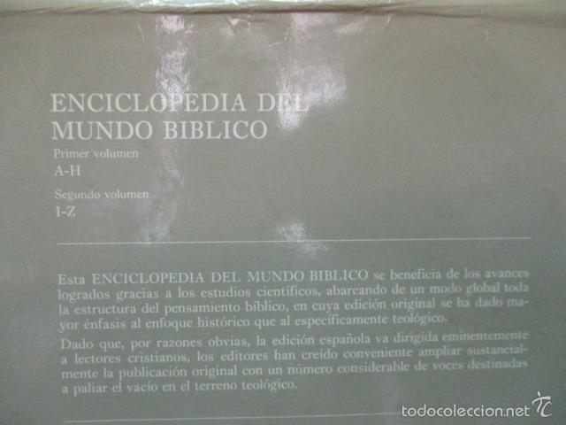 Enciclopedias de segunda mano: ENCICLOPEDIA DEL MUNDO BIBLICO. TOMO - 2 (TOMO II, I-Z). - Foto 18 - 57810770