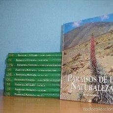 Enciclopedias de segunda mano: PARAISOS DE LA NATURALEZA. 10 TOMOS . EDICIONES RUEDA.NUEVOS!!!!!!. Lote 60133851