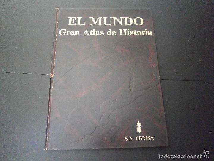 1 LIBRO TAPA DURA AÑO 1985 - EL MUNDO - GRAN ATLAS DE HISTORIA ( TOMO 1 ) (Libros de Segunda Mano - Enciclopedias)