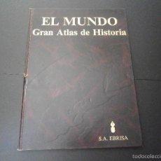 Enciclopedias de segunda mano: 1 LIBRO TAPA DURA AÑO 1985 - EL MUNDO - GRAN ATLAS DE HISTORIA ( TOMO 1 ). Lote 60660259