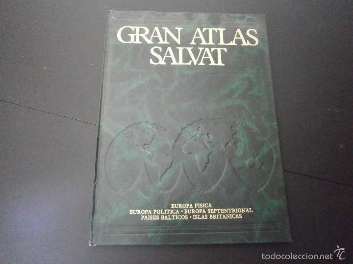 1 LIBRO AÑO 1984 - GRAN ATLAS SALVAT - EUROPA FISICA POLITICA SEPTENTRIONAL PAISES BALTICOS TOMO 2 ) (Libros de Segunda Mano - Enciclopedias)
