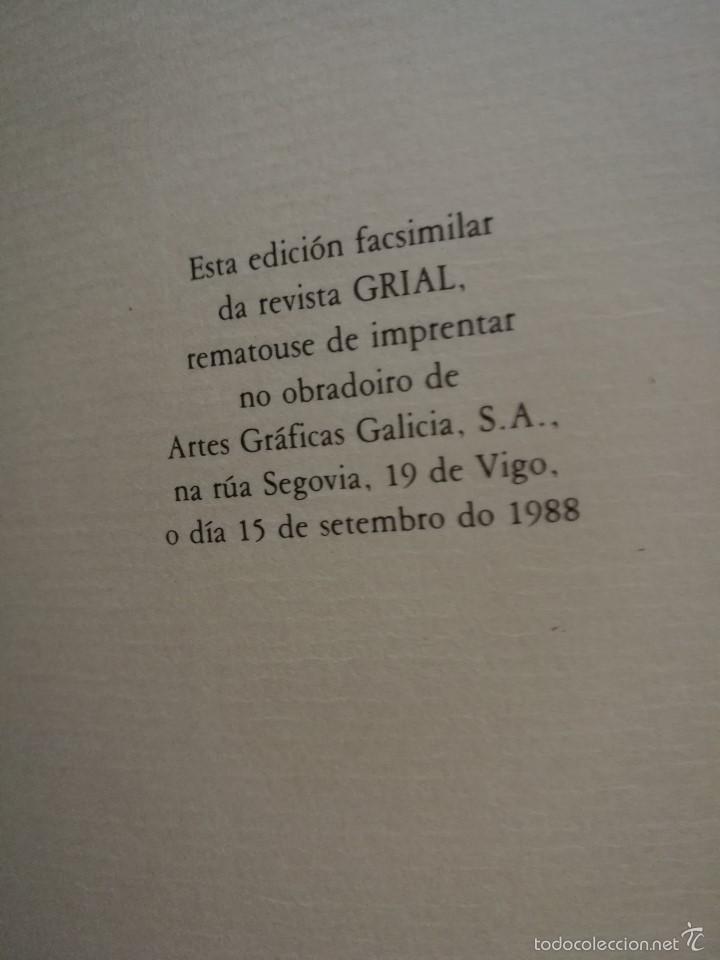 Enciclopedias de segunda mano: Grial Revista Galega da Cultura. Colección.Galaxia 1988 - Foto 5 - 60719855