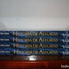 Enciclopedias de segunda mano: HISTORIA DE ASTURIAS. LA NUEVA ESPAÑA Y CAJA DE AHORROS DE ASTURIAS. CUATRO TOMOS.. Lote 69347085