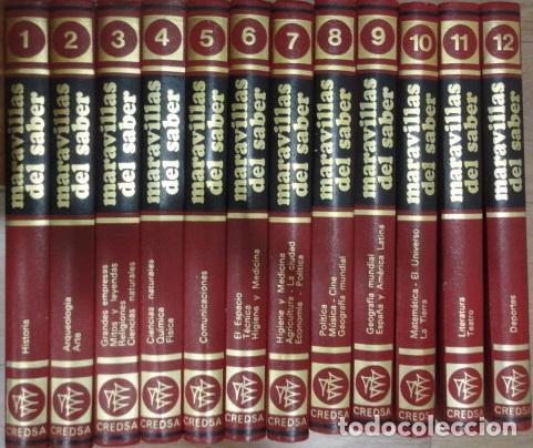 MARAVILLAS DEL SABER - ENCICLOPEDIA 12 TOMOS ( COMPLETA) , ENCICLOPEDIA/MUNDI (Libros de Segunda Mano - Enciclopedias)