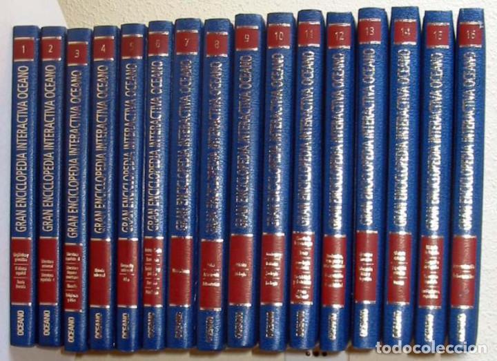 GRAN ENCICLOPEDIA INTERACTIVA OCEANO - ADAPTADA A LA LOGSE - 16 + 2 TOMOS - 4136 PÁGINAS - VER (Libros de Segunda Mano - Enciclopedias)