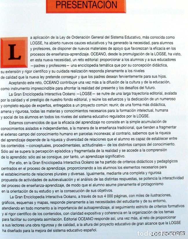 Enciclopedias de segunda mano: GRAN ENCICLOPEDIA INTERACTIVA OCEANO - ADAPTADA A LA LOGSE - 16 + 2 TOMOS - 4136 PÁGINAS - VER - Foto 6 - 74325967