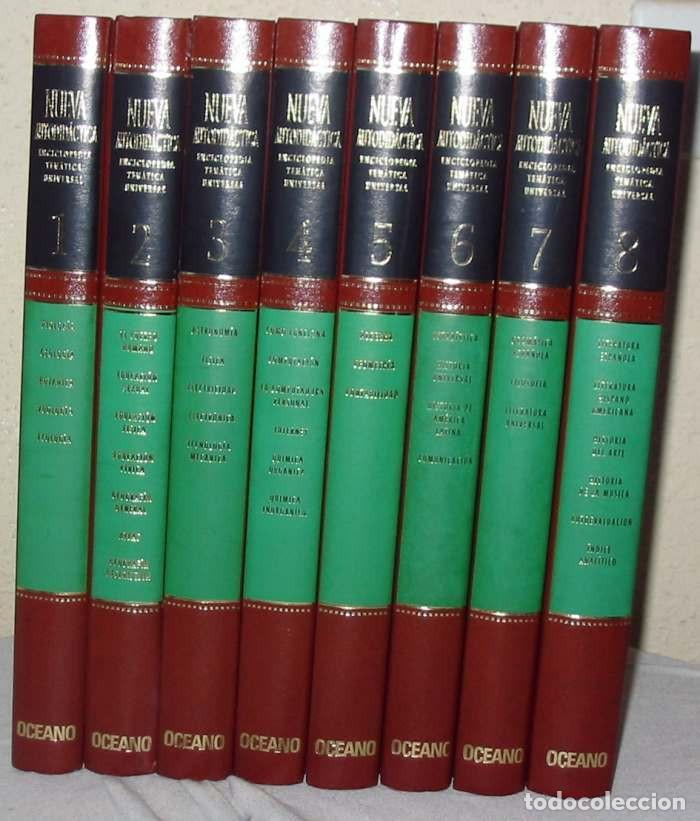 NUEVA AUTODIDÁCTICA - ENCICLOPEDIA TEMÁTICA UNIVERSAL OCEANO - 8 TOMOS - 2400 PÁGINAS - VER (Libros de Segunda Mano - Enciclopedias)